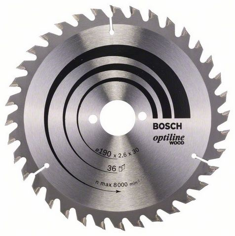 Диск пильный BOSCH 190_30 z36 по дереву (2608640616) OPTILINE 2608640616 от Ravta