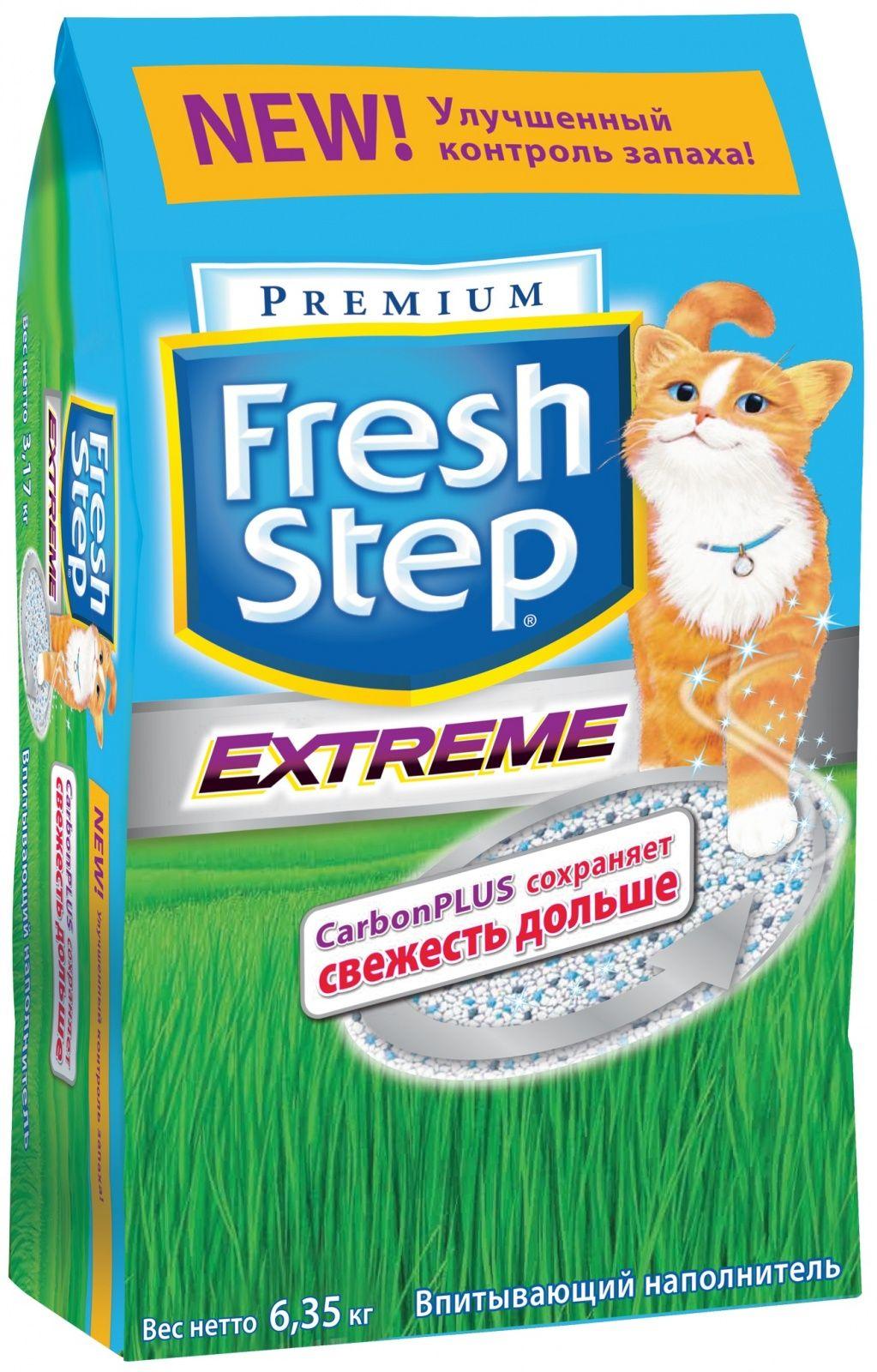 fresh step Fresh Step Впитывающий наполнитель Тройная защита 6,35кг 26093