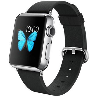 Умные часы Apple Watch 38mm Stainless Steel Case with Black Classic Buckle (MJ312) от Ravta