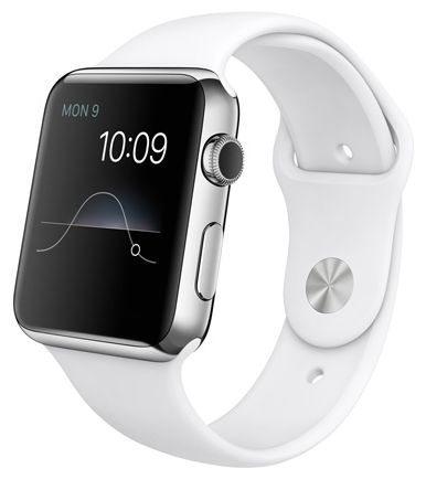 Умные часы Apple Watch 42mm Stainless Steel Case with Sport Band White (MJ3V2) от Ravta