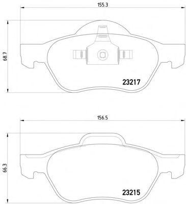 Тормозные колодки Textar передние дисковые комплект Renault Laguna 2 2001> [2321502] от Ravta