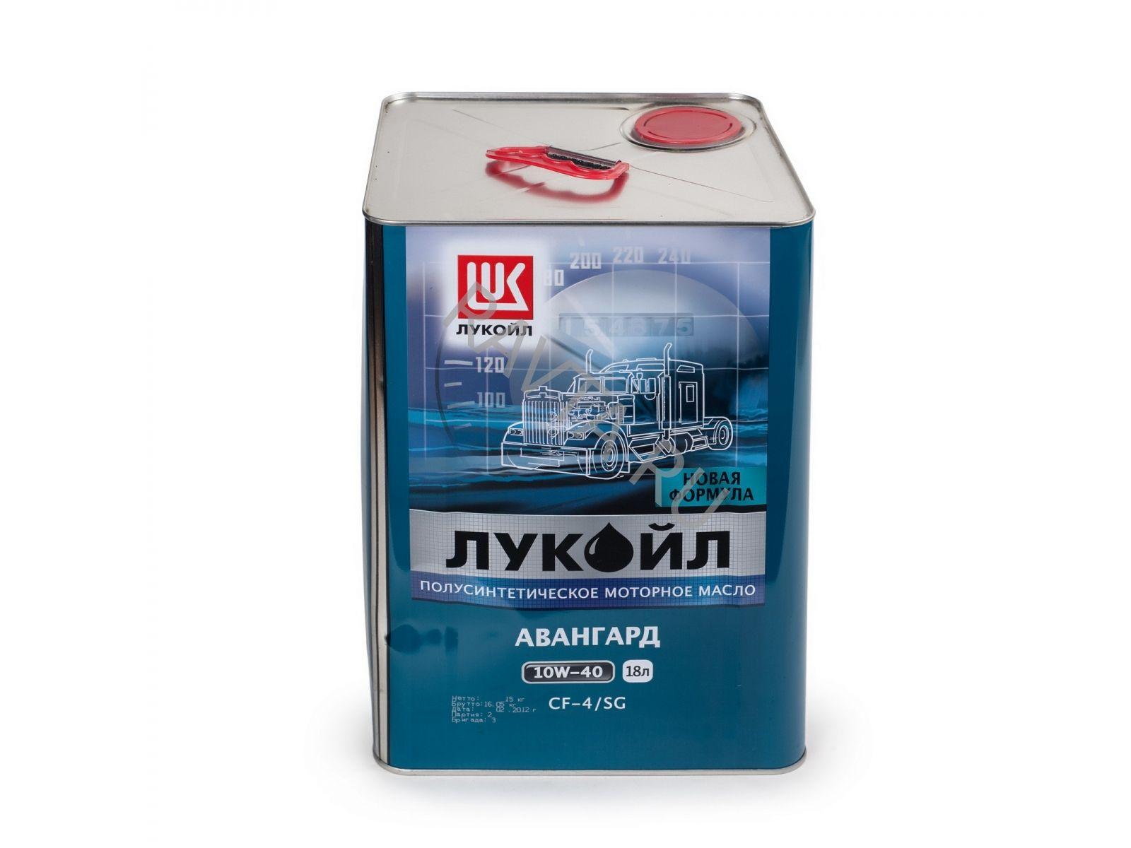 Масло Лукойл АВАНГАРД 10W 40 (18л) от Ravta