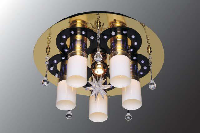 Люстра Панель 1-1158-6-FG+BK-LED Y Е27+ от Ravta