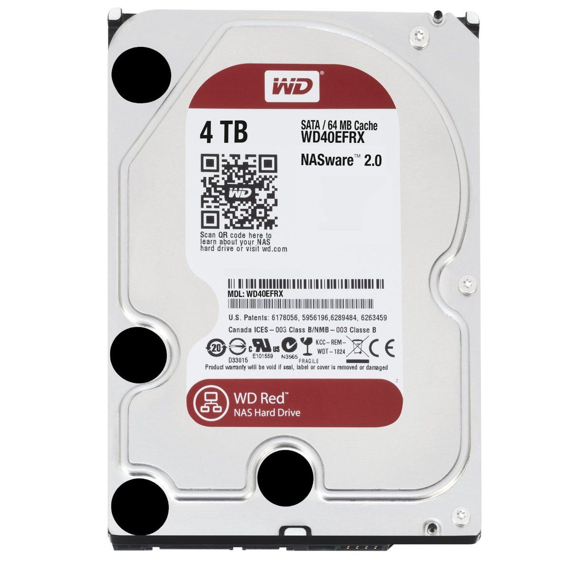 Жесткий диск WESTERN DIGITAL WD40EFRX 4TB SATA 6GB/S 64MB RED от Ravta