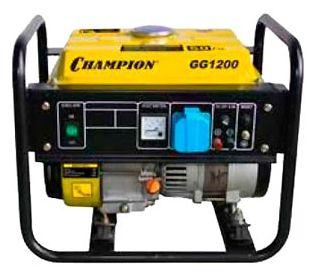 Электростанция бенз. CHAMPION GG1200, 0.9/1.0кВт ОHV 2.3лс 5.2л 24.7кг 12v GG1200Генераторы и электростанции<br><br><br>Артикул: GG1200<br>Бренд: Champion<br>Родина бренда: Япония