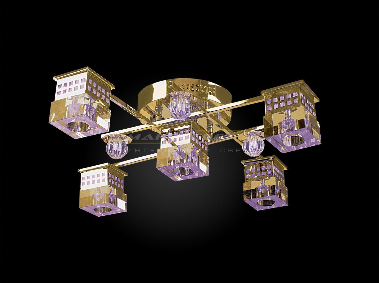 Люстра Геометрия 1-8231-4+1-FG-LED Y G4Люстры<br>Скидка 20%<br><br>Артикул: 1-8231-4+1-FG-LED Y G4<br>Бренд: МАКСИСВЕТ<br>Вес (кг): 5,5<br>Коллекция светильников: Геометрия<br>Длина светильника (мм): 650<br>Ширина светильника (мм): 650<br>Высота светильника (мм): 200<br>Цвет арматуры: FG (блестящее золото)<br>Тип цоколя светильника: G4<br>Количество ламп светильника: 5<br>Общая мощность освещения светильника (Вт): 100<br>Размер основания светильника: 200мм<br>Цвет плафона: прозрачный<br>Материалы светильника: металл/стекло