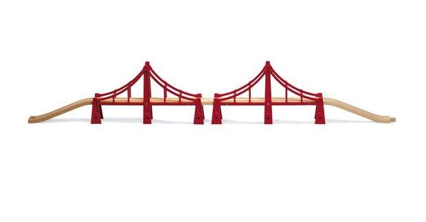 Подвесной мост (двойной, 5 элементов) BRIO (арт. 33683)Железная дорога<br><br><br>Артикул: 33683<br>Бренд: Brio<br>Пол: Для девочек<br>Категории: Железная дорога<br>Возраст ребенка: от 3 лет