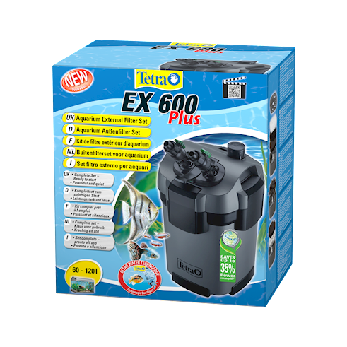 tetra Фильтр внешний Tetra EX600 Plus, 600л/ч ( до 120 л) 240926