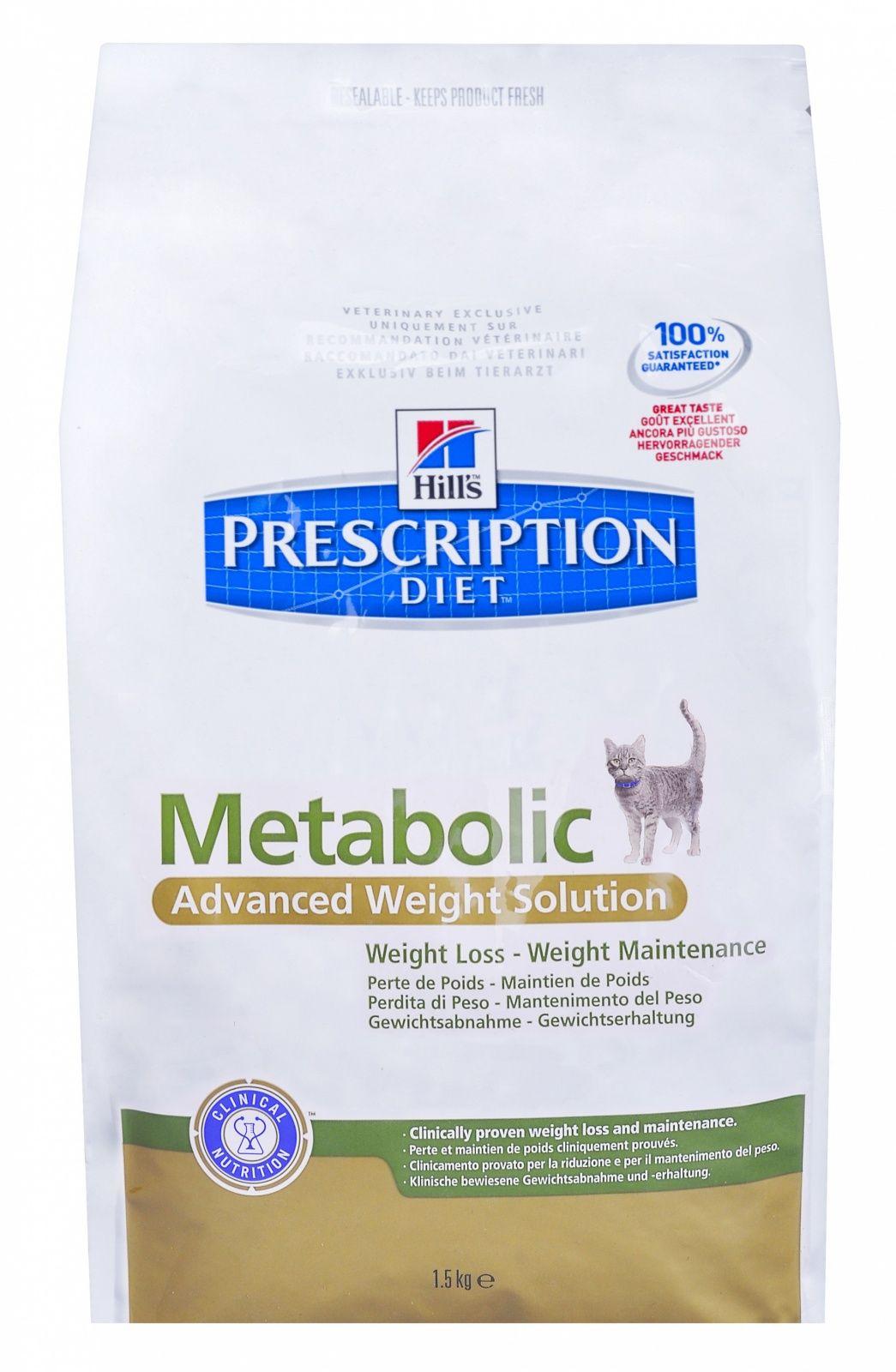 Диетический корм Hill's Metabolic для Кошек - Улучшение метаболизма (коррекция веса), 1,5кг от Ravta