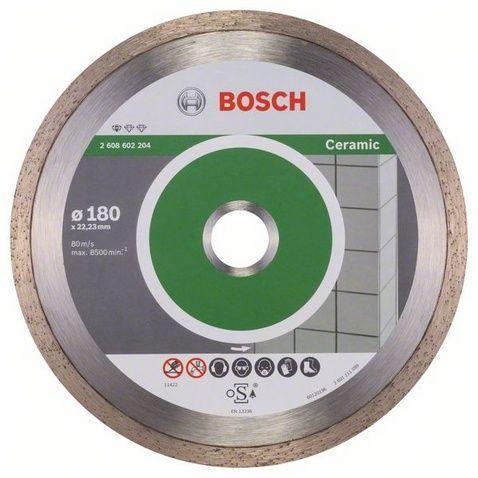 Диск алмазный BOSCH 180_22.23_2.2 по керамике сплошной (2608602204) Professional FPE 2608602204 от Ravta