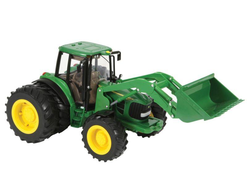 Tomy Трактор JOHN DEERE 6830 c двойными колесами и фронтальным ковшом (арт. ТО42425)Игрушки для малышей до 3 лет<br><br><br>Артикул: ТО42425<br>Бренд: Tomy<br>Категории: Машинки для малышей