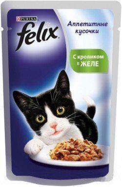 Консервы Felix для кошек, кролик 85гПовседневные корма<br><br><br>Вес брутто (кг): 0,085<br>Артикул: 12172597<br>Бренд: PURINA<br>Вид: Консервированные<br>Мин. количество для заказа: 24<br>Страна-изготовитель: Франция<br>Количество штук в упаковке: 24<br>Вес упаковки (кг): 0,085<br>Продажа товара кратно упаковке: Да<br>Ингредиенты: Кролик<br>Для кого: Кошки