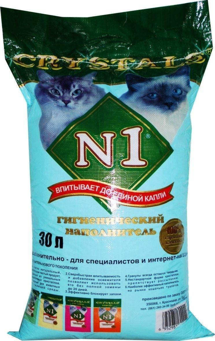 n1 Силикагелевый наполнитель N1 (Crystals), 30л: СИНИЙ 26247