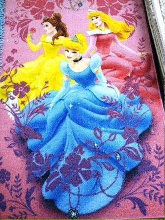 Ковер детский Dinarsu Disney Принцессы (арт.D3PR003) розовый 800*1330мм от Ravta
