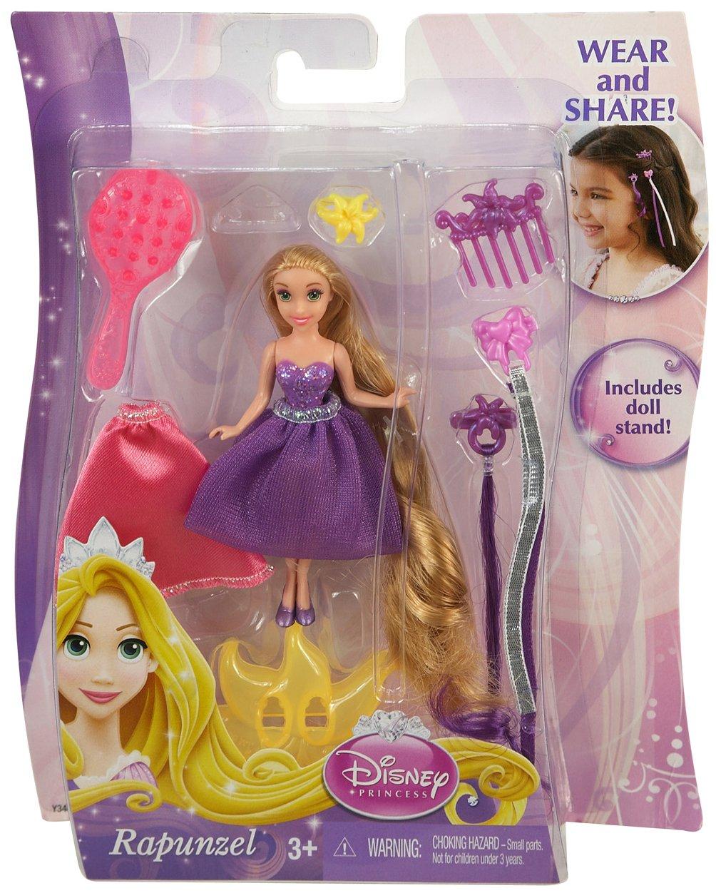 y3465 игрушка кукла мини disney принцесса модные прически с аксессуарами