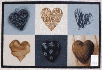 Коврик Carpets Inter придверный Deco-Up Сердечки 600*1000мм от Ravta