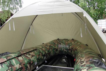 badger Тент-палатка для лодки (длина 230 / высота 120 см), Grey 330_D_Gr