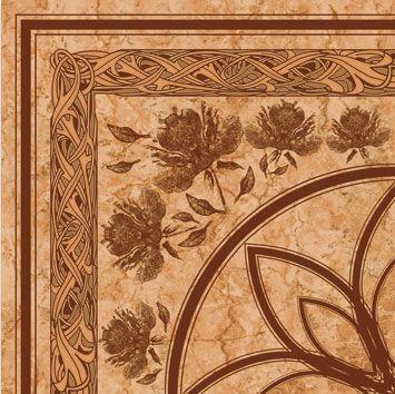 Керамическая плитка напольная Golden Tile Каменный цветок Цветы темно-бежевый 300*300 (шт.) от Ravta