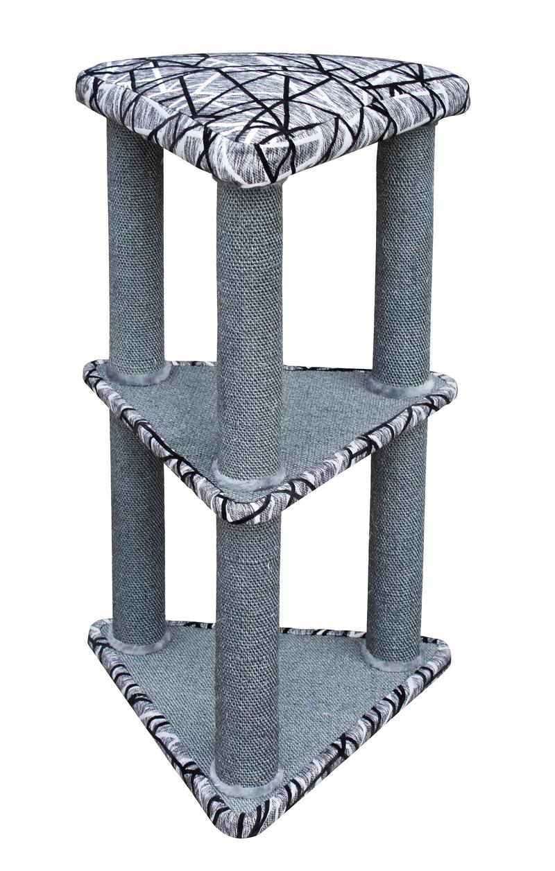 croci Когтеточка-комплекс углов. Putty, 50*44*90 см, серая C6020783