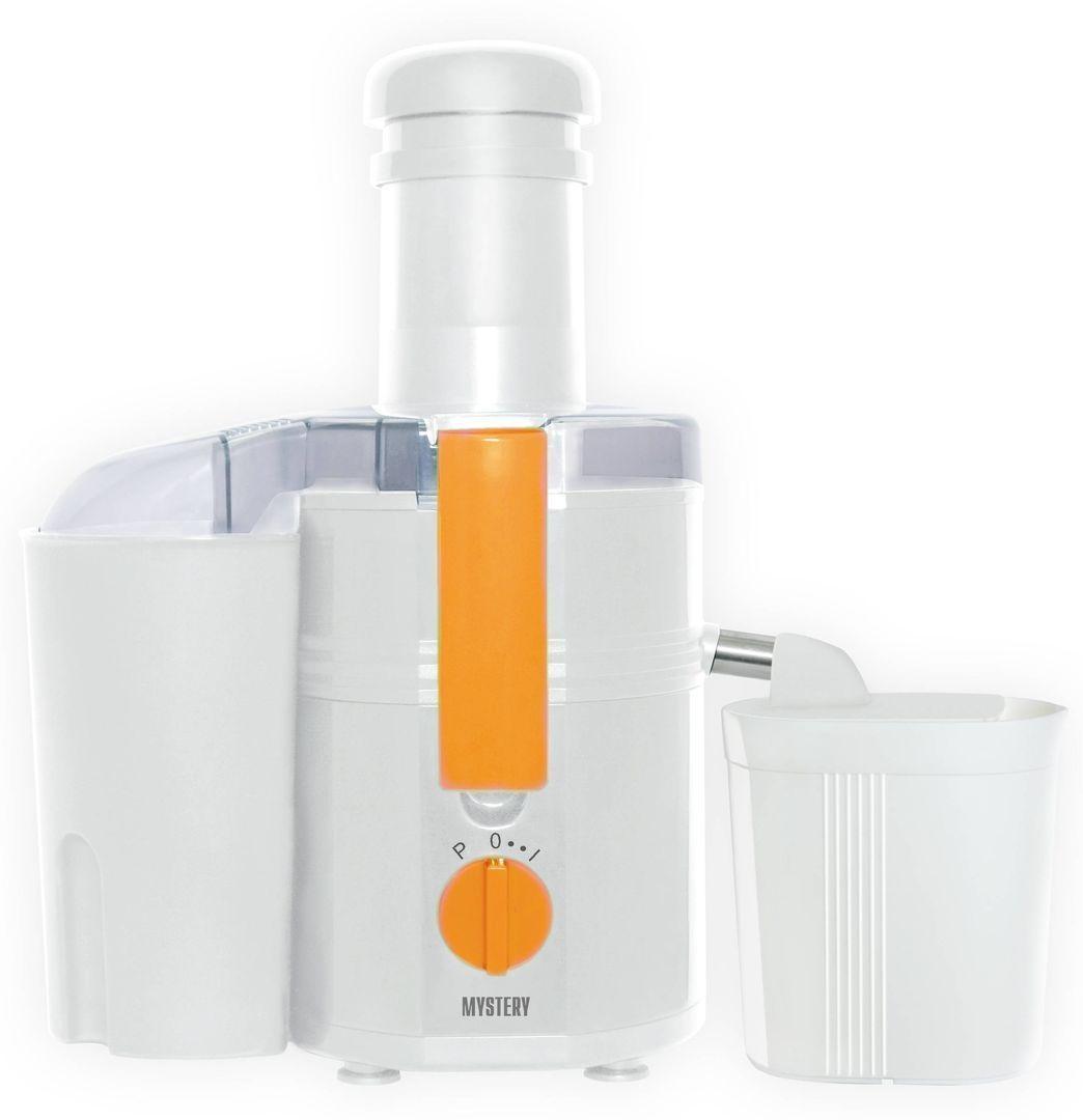 Соковыжималка Mystery MJE-1901Соковыжималки<br><br><br>Бренд: Mystery<br>Вид: соковыжималка<br>Материал: пластик<br>Потребляемая мощность (Вт): 450<br>Тип соковыжималки: центробежная<br>Гарантия производителя: да<br>Вес упаковки (кг): 4,75