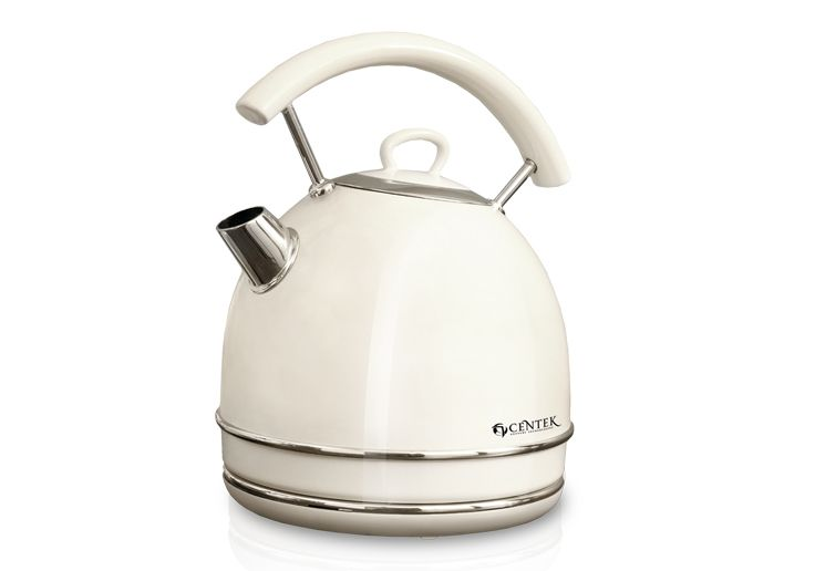 Чайник Centek CT-1065, 2л., cream (беж/хром)Чайники<br><br><br>Артикул: 21356815<br>Бренд: Centek<br>Материал: металл<br>Потребляемая мощность (Вт): 2200<br>Отсек для сетевого шнура: есть<br>Блокировка включения без воды: есть<br>Нагревательный элемент: скрытый<br>Гарантия производителя: да<br>Общий объем (л): 2<br>Цвет: белый<br>Указатель уровня воды: да<br>Индикация включения : есть<br>Автоотключение при закипании: есть