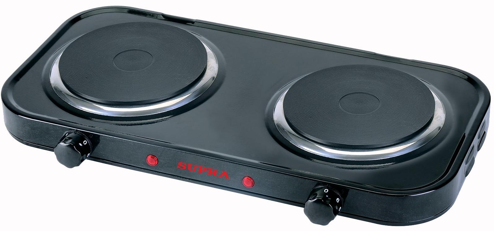 Электрическая плита Supra HS-201 blackНастольные плиты<br><br><br>Бренд: Supra<br>Управление: механическое<br>Рабочая поверхность: эмаль<br>Варочная панель: электрическая<br>Количество конфорок: 2<br>Гарантия производителя: да