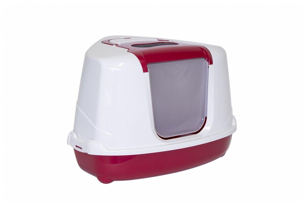 Туалет-домик Moderna угловой Flip с угольным фильтром, 55х45х38см, терракотовыйТуалеты для животных<br><br><br>Артикул: 24646.тер<br>Бренд: Moderna<br>Вес брутто (кг): 1,6<br>Страна-изготовитель: Бельгия<br>Вес упаковки (кг): 1,6