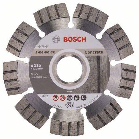 Диск алмазный турбосегментный BOSCH Best for CONCRETE 115 x 22 мм (1 шт.) от Ravta