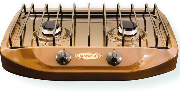 Газовая настольная плита Gefest ПГ 700-2 настольная, 2 конфорки от Ravta