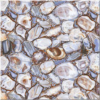 Керамическая плитка напольная Azori Agat Blue голубой 333*333 (шт.) от Ravta