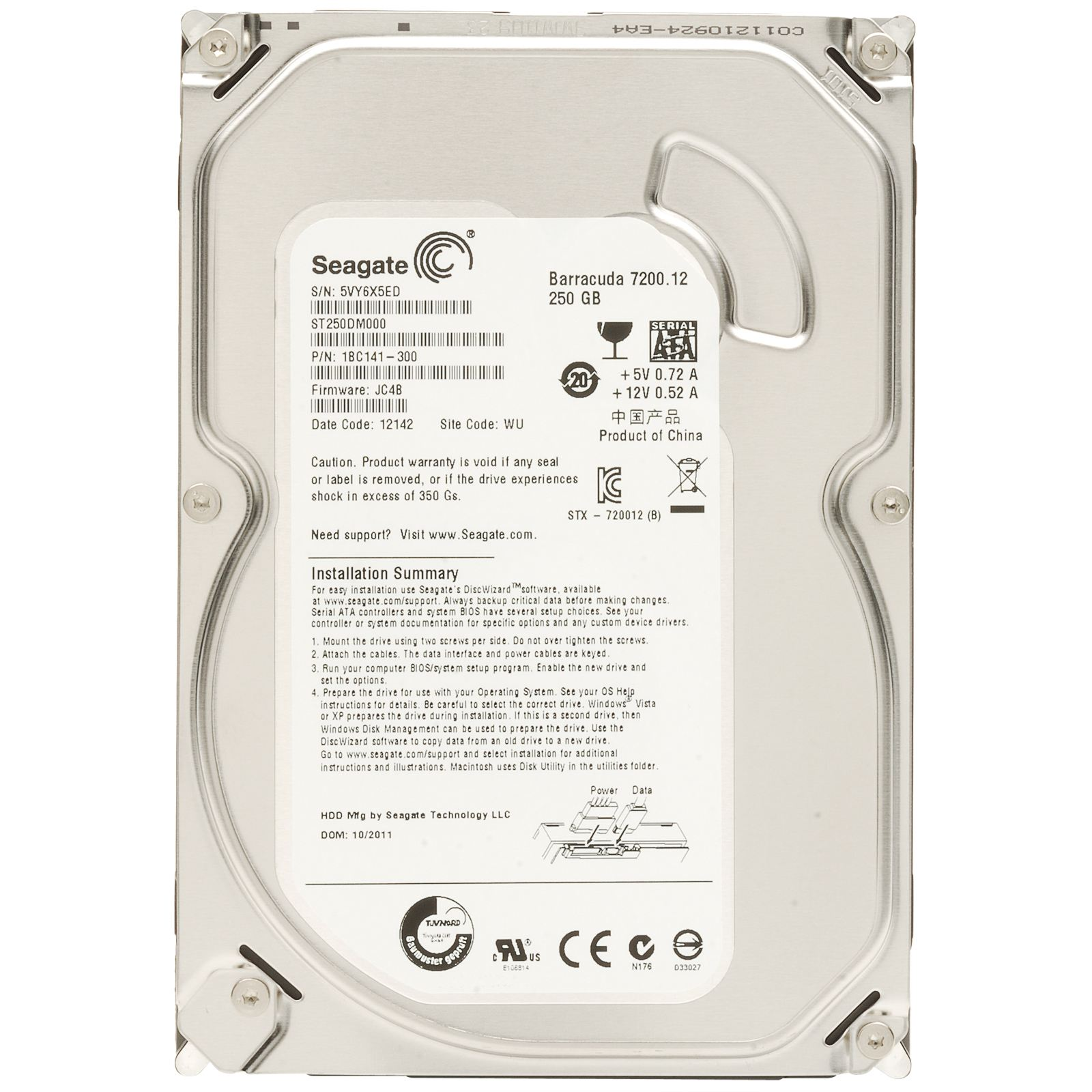 Жесткий диск SEAGATE ST250DM000 250GB SATA 7200RPM 6GB/S 16MB от Ravta