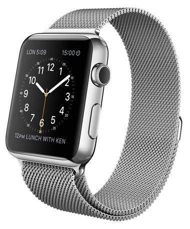 Умные часы Apple Watch 42mm Stainless Steel Case with Milanese Loop (MJ3Y2) от Ravta