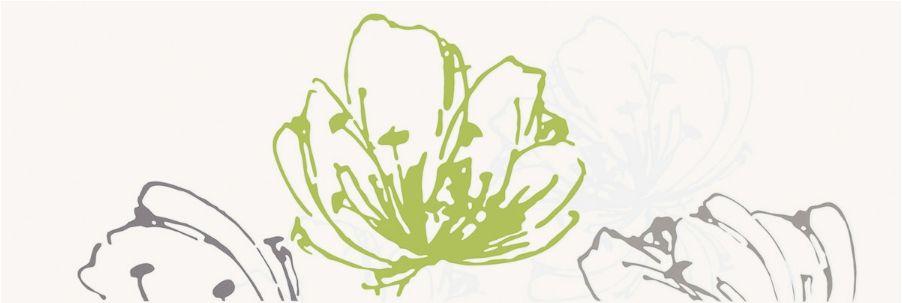 Керамическая плитка декор Paradyz Midian verde kwiat 600x200 (шт) бежевый от Ravta