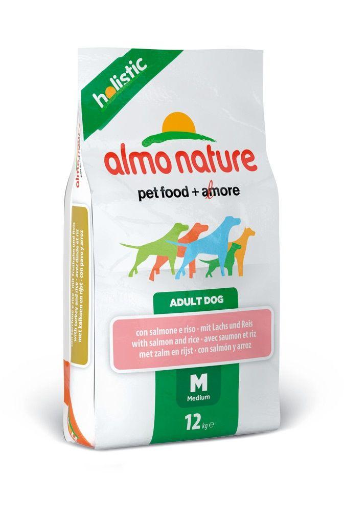 Корм Almo Nature холистик для Взрослых собак с Лососем 12кгПовседневные корма<br><br><br>Артикул: 10150<br>Бренд: Almo Nature<br>Вид: Сухие<br>Высота упаковки (мм): 0,72<br>Длина упаковки (мм): 0,4<br>Ширина упаковки (мм): 0,1<br>Вес брутто (кг): 12<br>Страна-изготовитель: Таиланд<br>Вес упаковки (кг): 12<br>Размер/порода: Все<br>Ингредиенты: Лосось<br>Для кого: Собаки<br>Особая серия: Холистик
