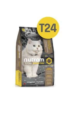 Корм Nutram T24 GF Salmon & Trout Cat Food, беззерновой для кошек из мяса лосося и форели, 1,8кг от Ravta