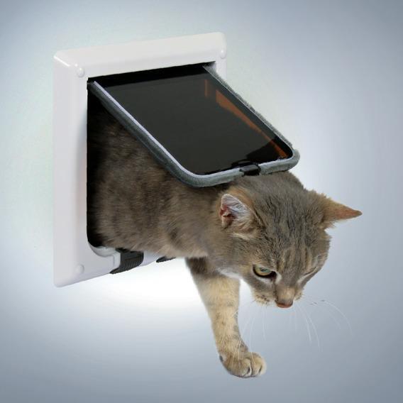 Дверца TRIXIE для кошки 16,5х17,4 см, белая, с 4-мя функциями от Ravta