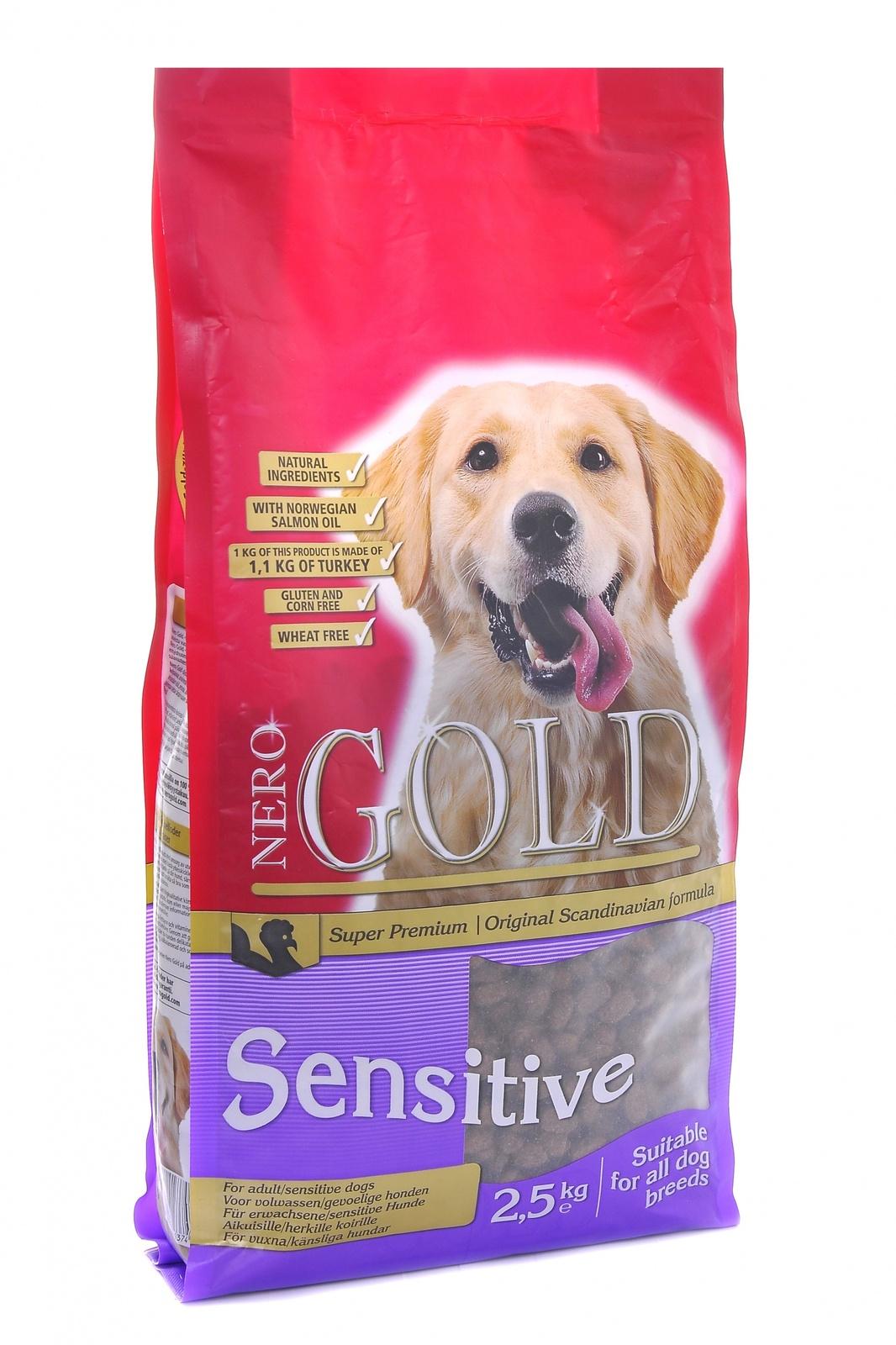 NERO GOLD super premium Для Чувствительных собак с Индейкой и рисом (Sensitive Turkey 23/13) 12кг от Ravta