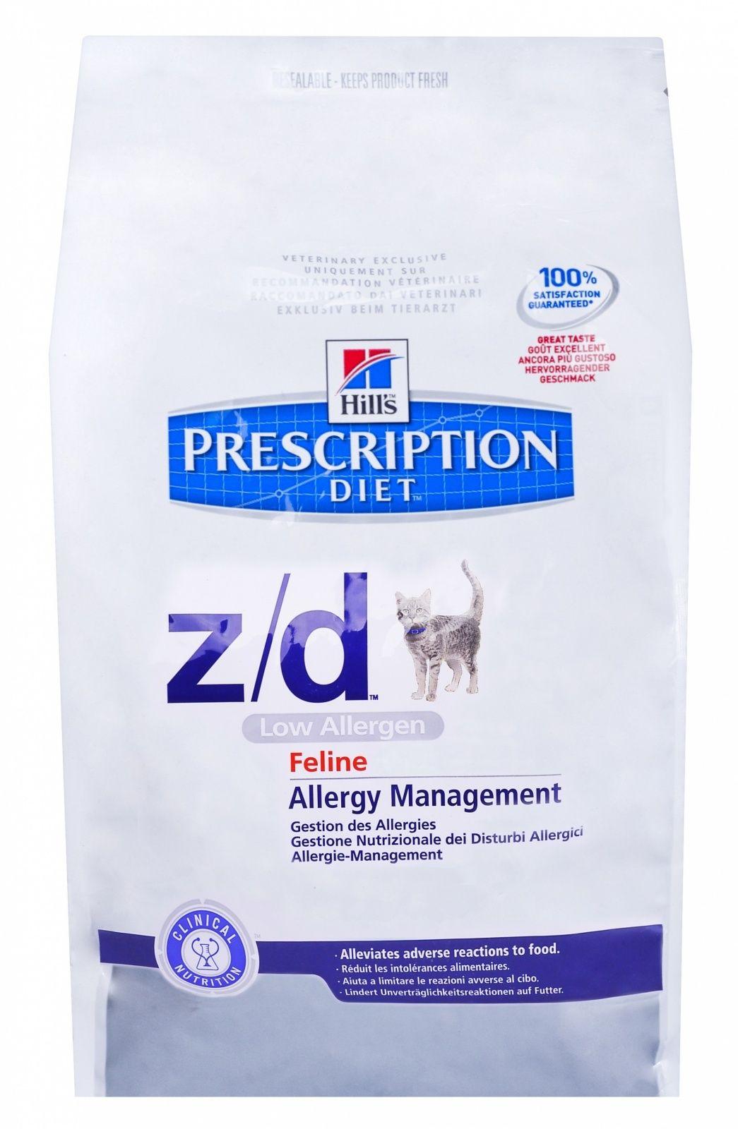 Диетический корм Hill's Z/D для кошек  лечение острых пищевых аллергией, 2кг от Ravta