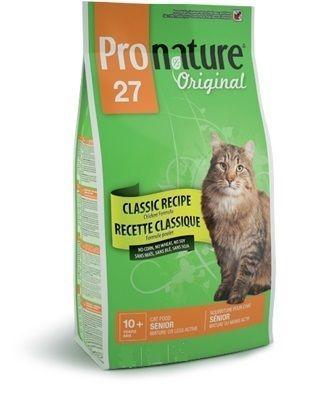 Корм Пронатюр 27  для кошек, облегченный/сеньор, цыпленок  5,44кгПовседневные корма<br><br><br>Артикул: 102.402<br>Бренд: Pronature<br>Вид: Сухие<br>Страна-изготовитель: Канада<br>Вес упаковки (кг): 5,44<br>Ингредиенты: Кура<br>Для кого: Кошки<br>Особая серия: Облегчённый