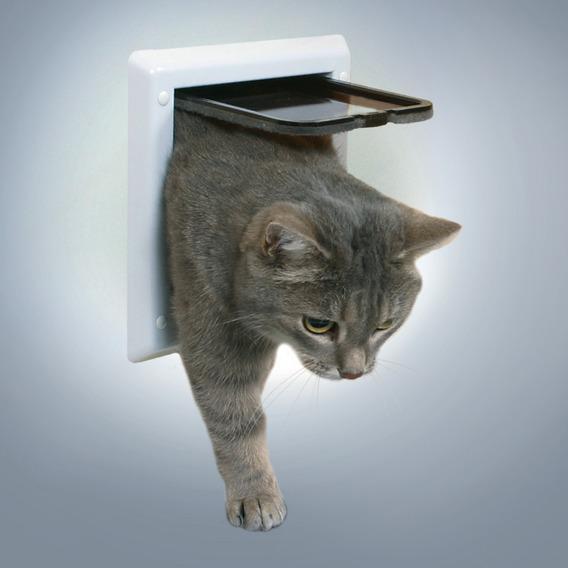 Дверца TRIXIE для кошки 16,5х17,4 см, белая, с двумя функциями. от Ravta