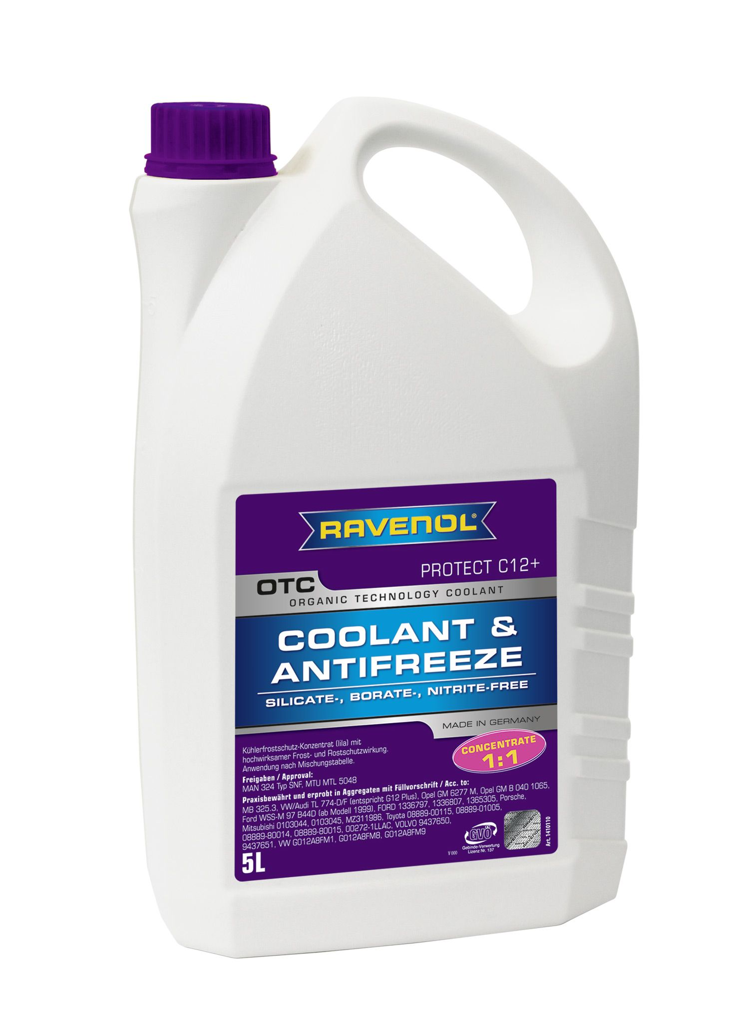 Антифриз концентрат лиловый Ravenol OTC Organic Technology Concentrate ( 5л) от Ravta