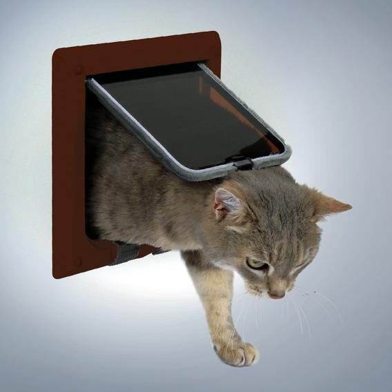 Дверца TRIXIE для кошки 16,5х17,4 см, коричневая, с 4 функциями от Ravta