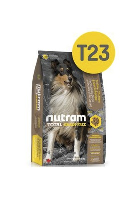 Корм Nutram T23 GF Turkey, Chicken & Duck Dog Food, беззерновой для собак из мяса индейки, курицы и утки, 13,6кг от Ravta