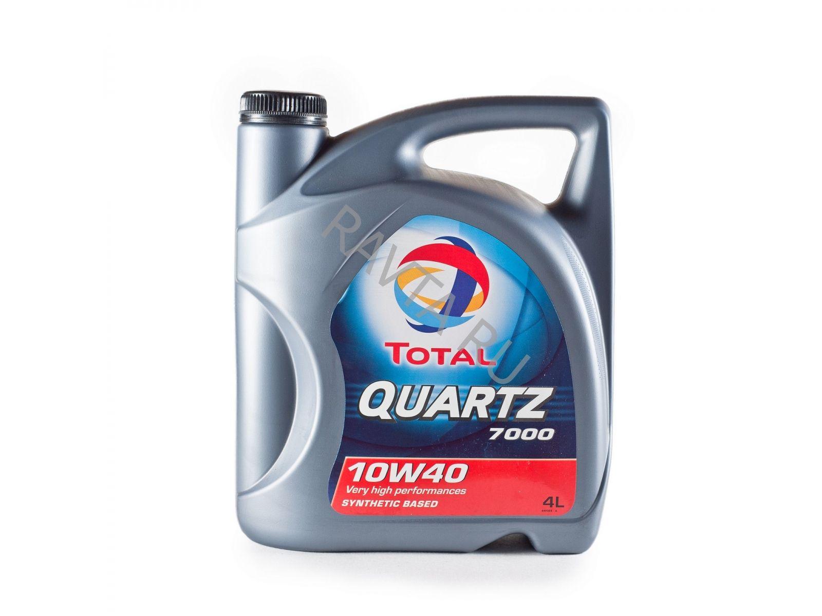 Масло Total Quartz 7000 10W-40 (4л) от Ravta