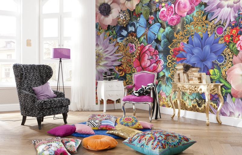 vintage floral wall decals urban walls - 1000×642