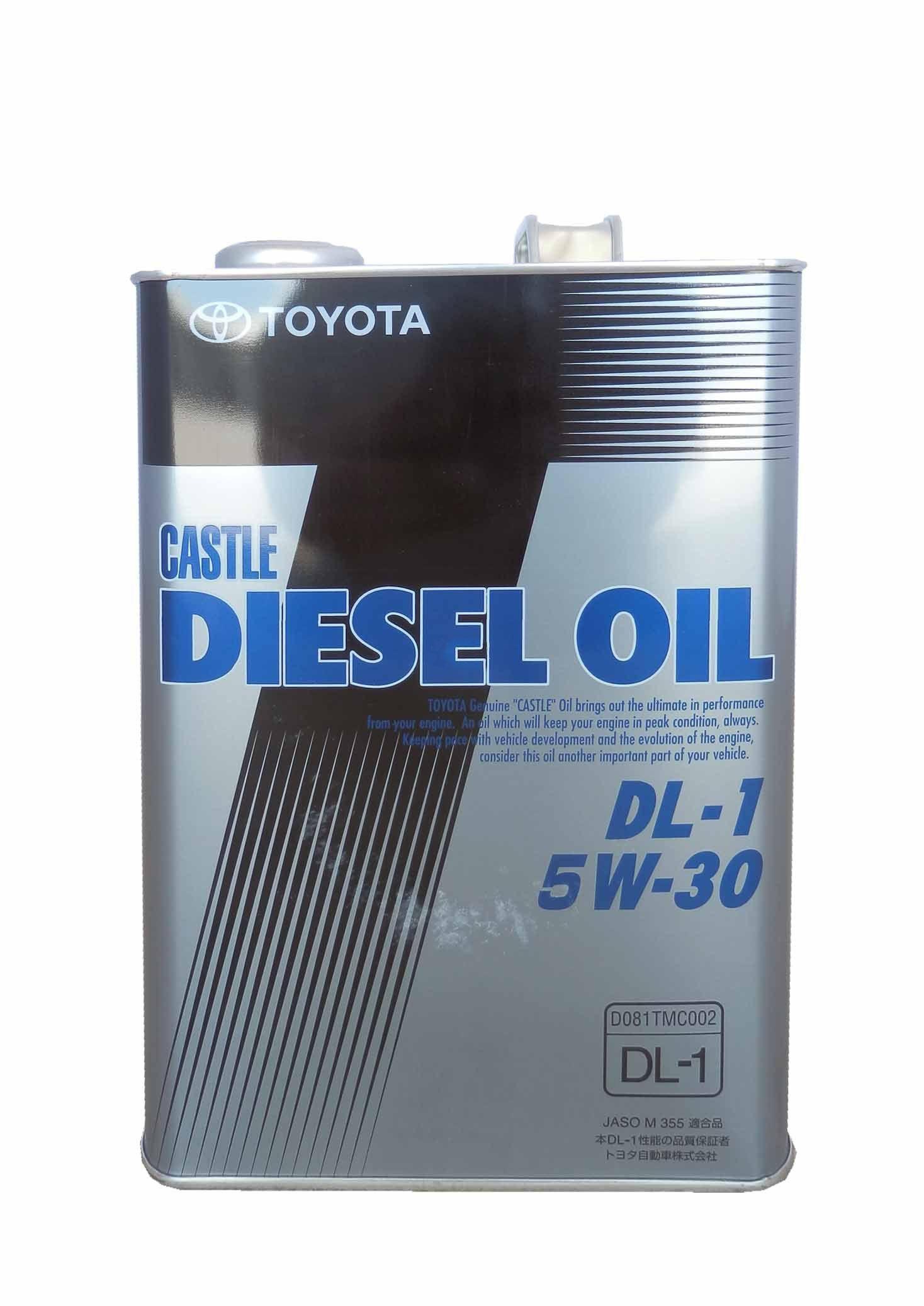 Масло TOYOTA Castle Diesel Oil DL-1 5W-30 (4л) от Ravta