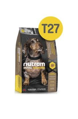 Корм Nutram T27 GF SB TurkeyChicken&Duck Dog Food, беззерновой для собак мелких пород из мяса индейки курицы и утки, 2,72кг от Ravta