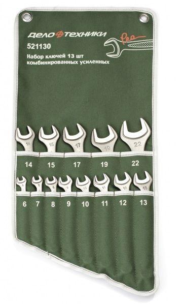 Набор Дело Техники ключей комбинированных усиленных 7 предм. (8,10,12,13,14,17,19 мм) арт.521070Инструмент для СТО<br><br><br>Артикул: 521070<br>Бренд: Дело Техники<br>Вид: набор