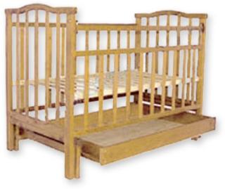 Кроватка АГАТ Золушка-4 маятник поперечный/ящик (светлая)Детские кроватки, манежи и аксессуары<br><br><br>Артикул: 170 687<br>Бренд: АГАТ