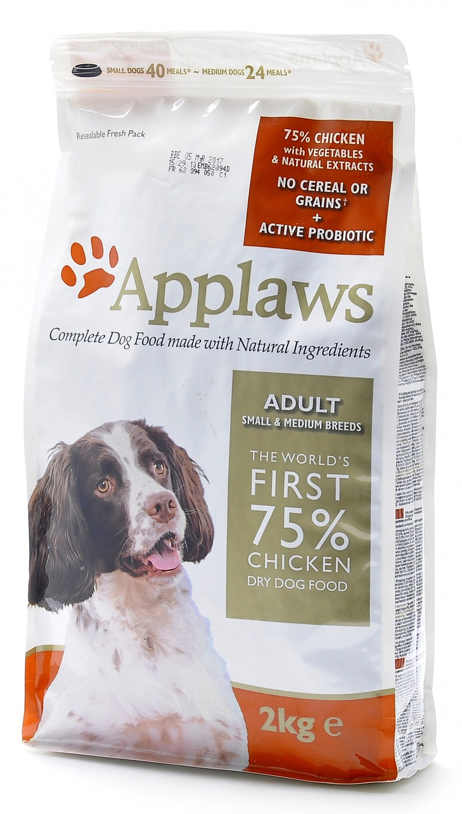 "Applaws Беззерновой для Собак малых и средних пород ""Курица/Овощи: 75/25%"" (Dry Dog Chicken Small & Medium Breed Adult) DD4515C 15кг от Ravta"